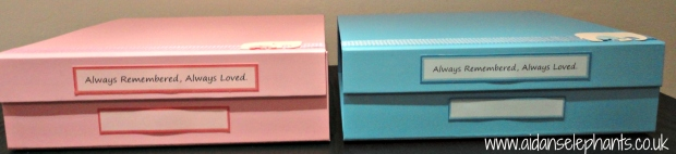 Pink and Blue Boxes.