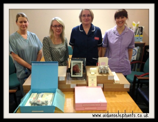 Staff at Airedale General Hospital receiving our first batch of boxes.